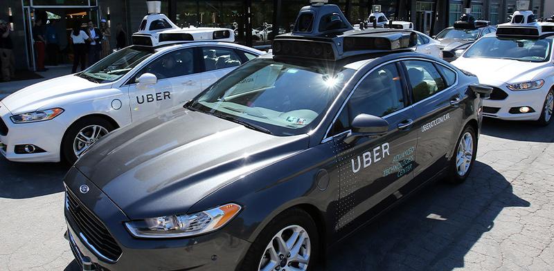 מכוניות אובר (UBER) פורד אוטונומיות בתערוכת טכנולוגיות אוטונומטיות בפיטסבורג / צילום: רויטרס