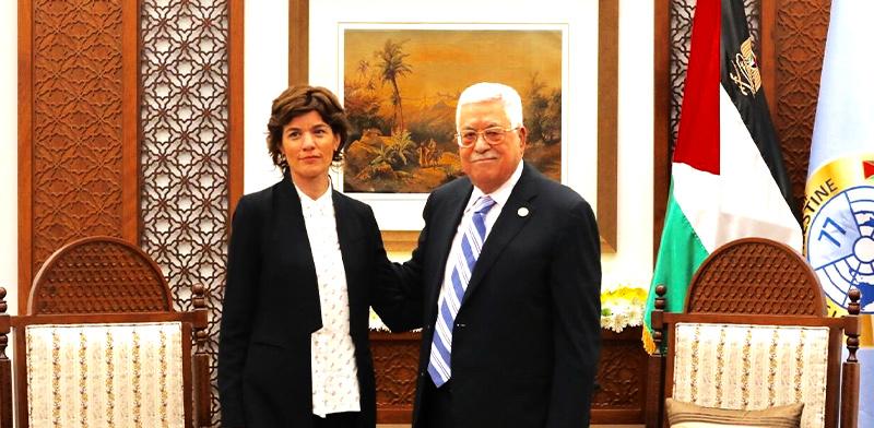 אבו מאזן ותמר זנדברג / צילום: אלעד מלכה