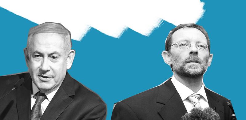 Moshe Feiglin and Benjamin Netanyahu