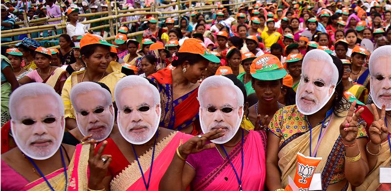 עצרת תמיכה בנשיא מודי בהודו / צילום: רויטרס, Anuwar Hazarika