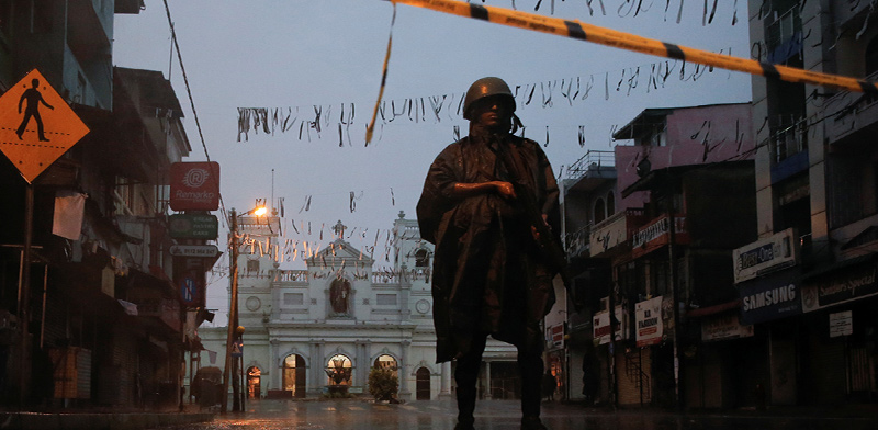 Sri Lanka in lockdown Photo: Reuters