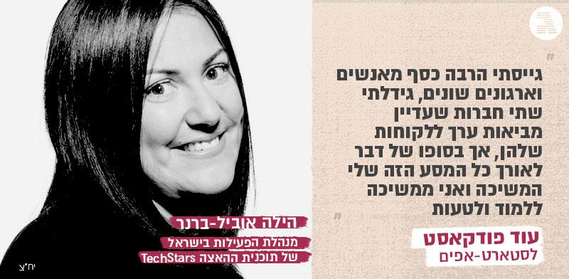 """הילה אוביל-ברנר, מנהלת הפעילות בישראל של תוכנית ההאצה TechStars / צילום: יח""""צ"""