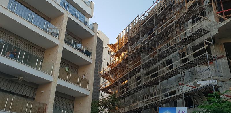 """פרויקטים במסגרת תמ""""א 38 ברחוב השר משה ברמת-גן / צילום: גיא ליברמן"""