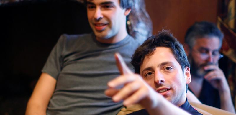 מייסדי גוגל, סרגיי ברין (מימין) ולארי פייג' / צילום: רויטרס / Rick Wilking