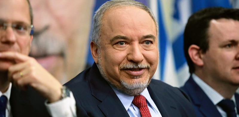 אביגדור ליברמן במסיבת העיתונאים היום / צילום: שלומי יוסף
