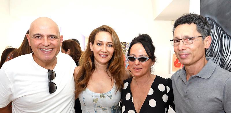 הרצל ומירי חבס, בתיה עופר ודוד פתאל / צילום: סיון פרג'