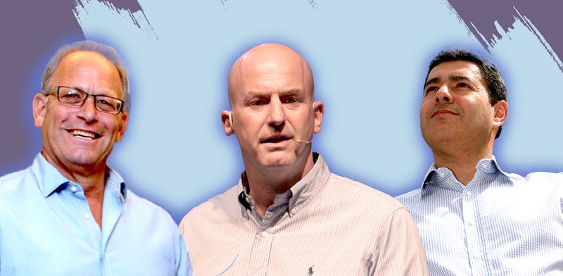 """מוטי גוטמן, אבי באום, עדי אייל / צילום: איל יצהר, יח""""צ, עינת לברון, עיבוד: טלי ב"""