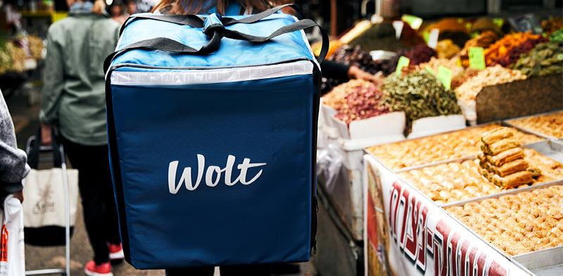 """שליח של Wolt / צילום: יח""""צ"""