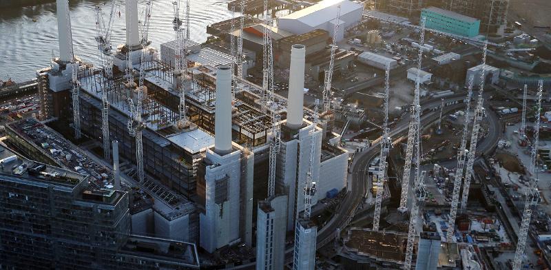 פרויקט מגורים במקום תחנת הכוח Battersea   / צילום: סימון דוסון, רויטרס