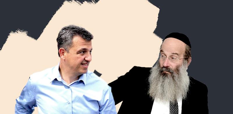 הרב אברהם רובינשטיין וכרמל שאמה-הכהן / צילום: איל יצהר, אלעד מלכה; עיבוד: טלי בוגדנובסקי