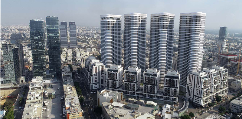 פרויקט השוק הסיטונאי – גינדי TLV, מבט למזרח / הדמיה: גינדי TLV