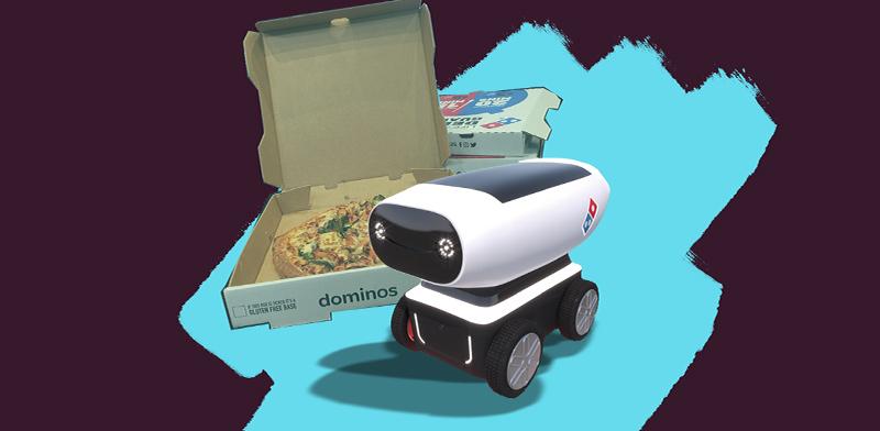 הרובוט של דומינו'ס פיצה / צילום: אתר החברה, shutterstock