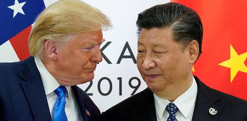 """נשיאי סין וארה""""ב, שי וטראמפ / צילום: רויטרס, Kevin Lamarque"""