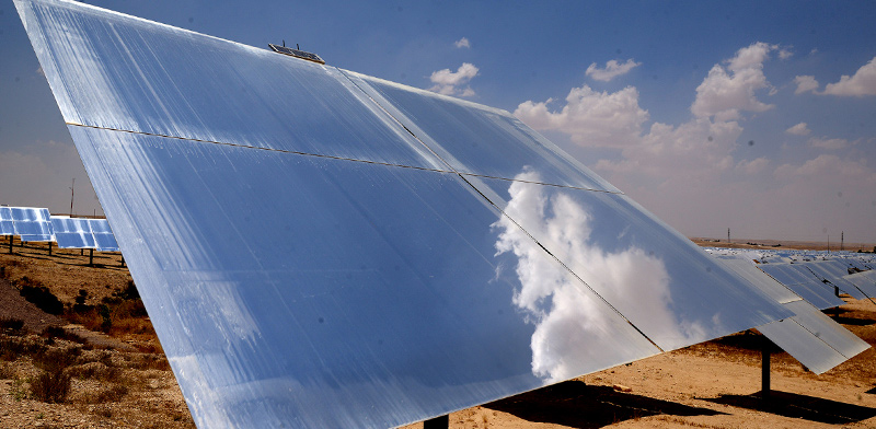 Ashalim solar power plant / Photo: Eyal Izhar, Globes