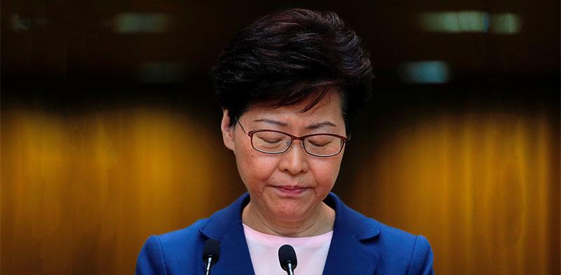 מנהיגת הונג קונג קארי לאם / צילום: Tyrone Siu, רויטרס