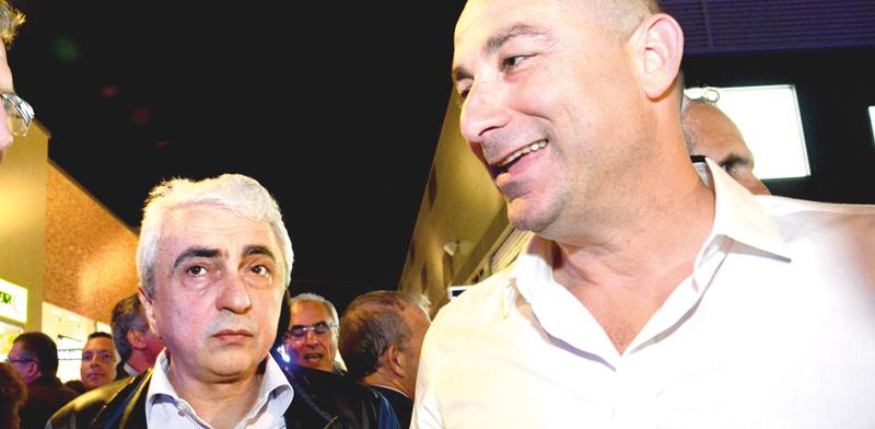 ג'קי בן-זקן ואברהם נניקשווילי / צילום: תמר מצפי