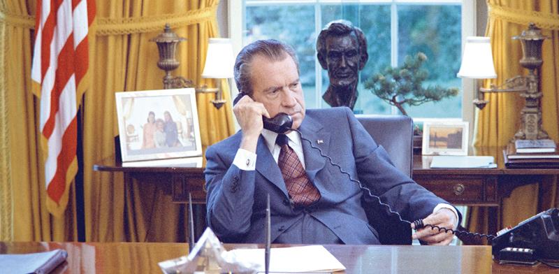 הנשיא ניקסון. ניתק את הקשר בין הדולר לזהב / צילום: רויטרס