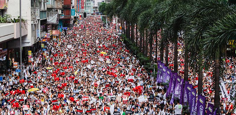 הפגנה בהונג קונג / צילום: shutterstock