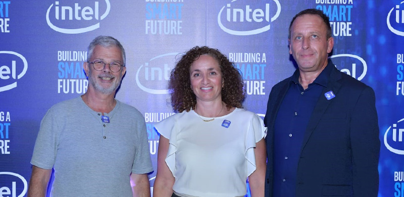 Yaniv Garty, Galit Cohen and Dadi Perlmutter / Photo: Intel Spokesperson