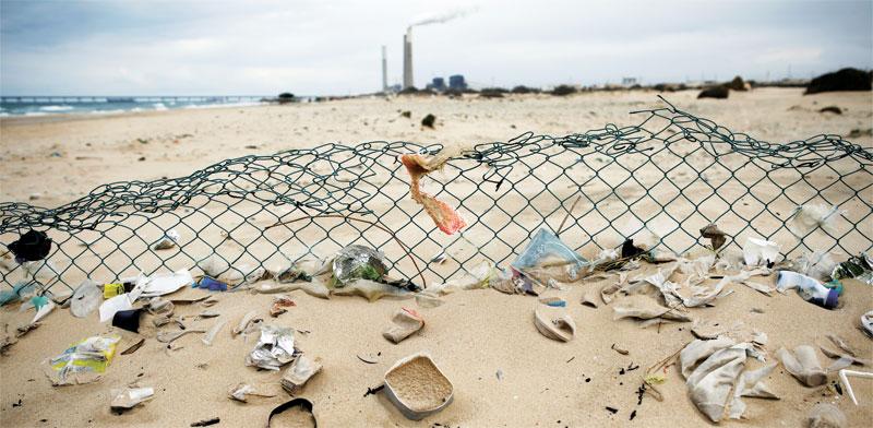 פסולת בחוף הים / צילום: רויטרס
