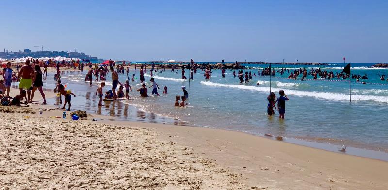 Tel Aviv beach  / Photo: Shani Ashkenazi, Globes