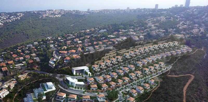 """שכונת """"דניה הירוקה"""" בחיפה / הדמיה: אנדו סטודיו"""