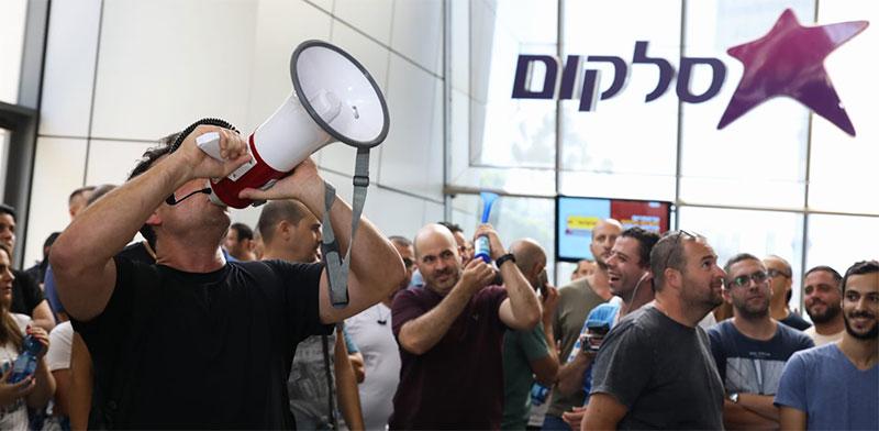 שביתת עובדי סלקום / צילום: כדיה לוי