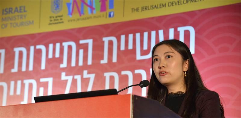 בלה הואנג (Bella Huang), מנהלת מחלקת המזרח התיכון ואפריקה של CYTS/צילום: תמר מצפי