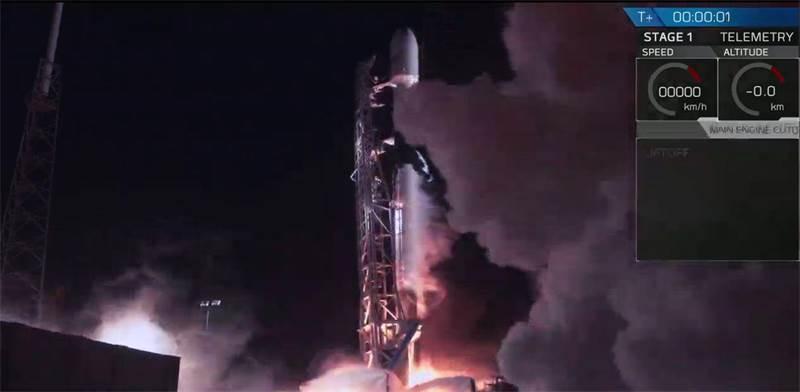 שיגור בראשית \ צילום מסך מ-SpaceX