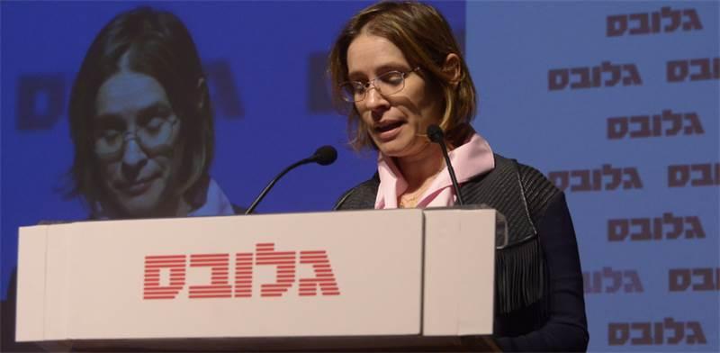 """יו""""ר """"גלובס"""", אלונה בר און, בוועידת ישראל לנדל""""ן / צילום: איל יצהר"""