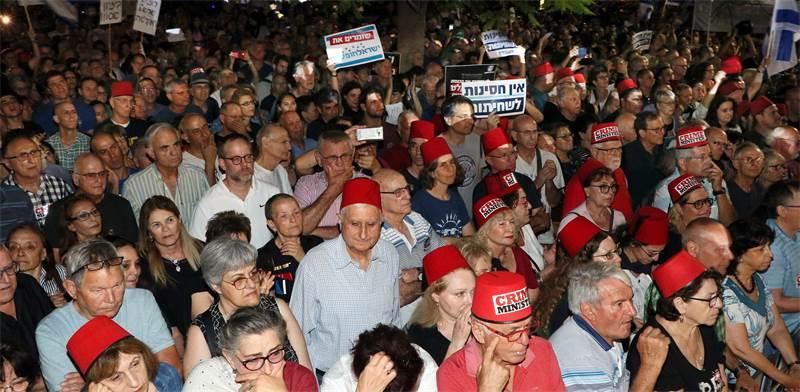 הפגנת האופוזיציה / צילום: אמיר מאירי