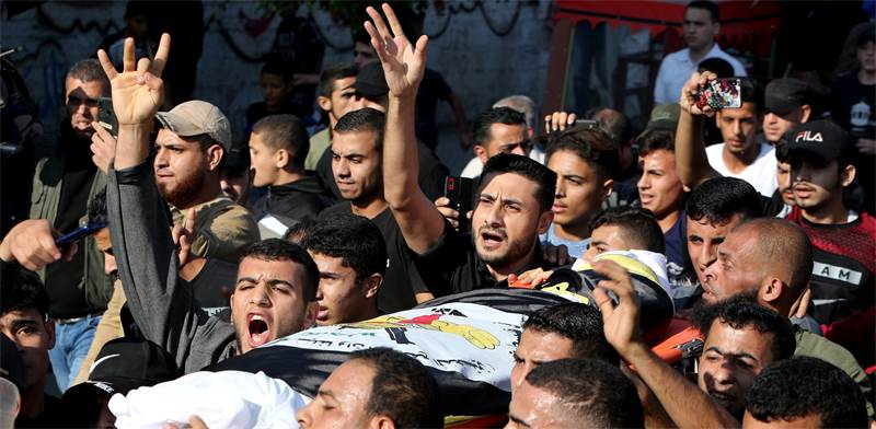 Funeral of Islamic Jihad commander in Gaza / Photo: Mohammed Salem, Reuters
