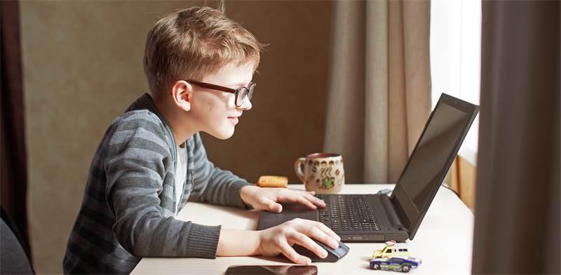תלמיד עם מחשב נייד / צילום: שאטרסטוק