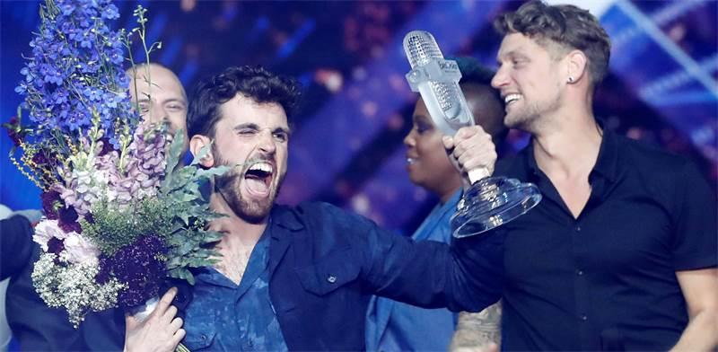 הזוכה באירוויזיון 2019 - דנקן לורנס ההולנדי / צילום: REUTERS, Ronen Zvulun