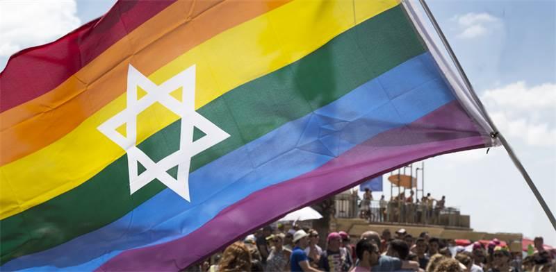 דגל הגאווה בתל-אביב / צילום: Shutterstock, hafakot