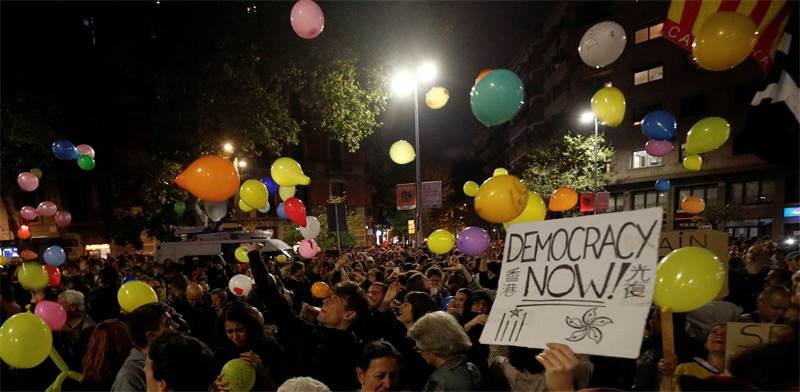 המהומות בברצלונה, ספרד / צילום: REUTERS, Albert Gea
