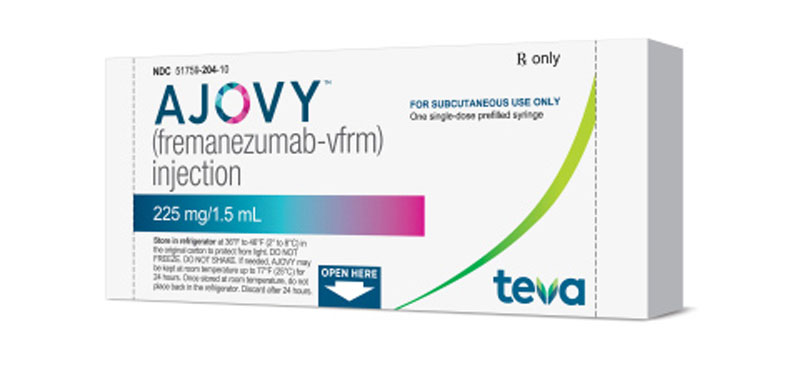 Teva's Ajovy migraine treatment Photo: Company website