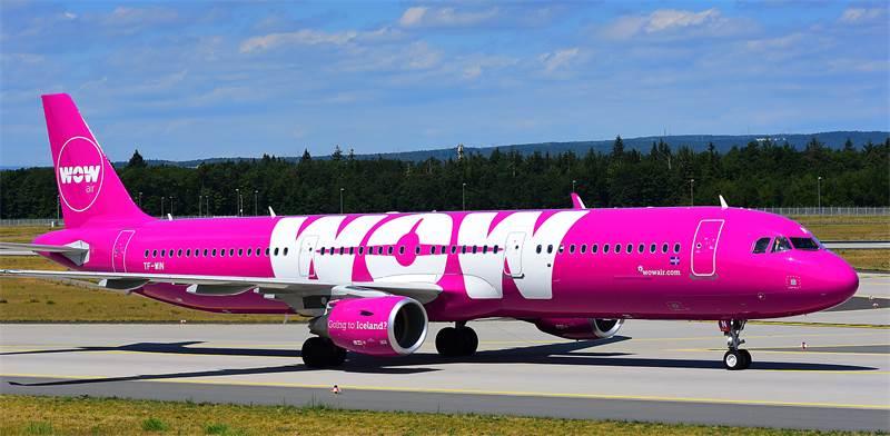 מטוס של Wow air, חברת הלואו קוסט האיסלנדית / צילום: shutterstock