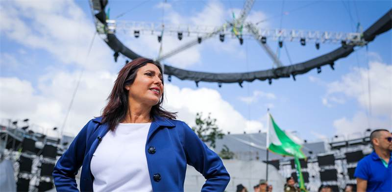 מירי רגב בטקס הדלקת המשואות 2018 / צילום: נועם מושקוביץ', וואלה! NEWS