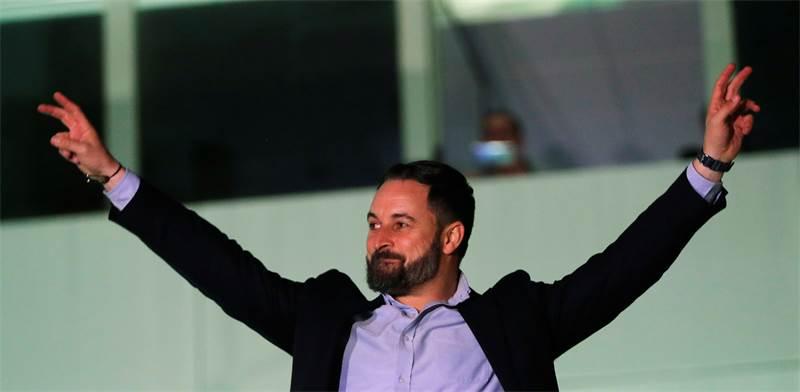 מנהיג מפלגת הימין הספרדית ווקס, סנטיאגו אבסקל / צילום: Susana Vera, רויטרס