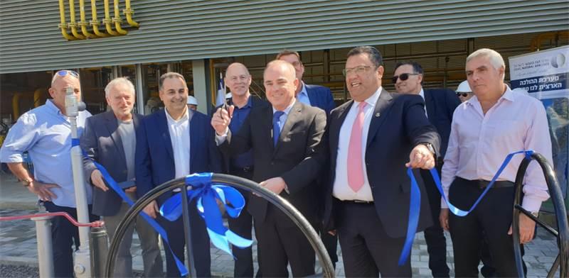 Natural gas line launch Photo: Shay Shaviro