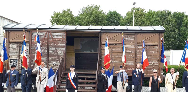 Boxcar donated by SNCF at Drancy  photo: Brett Kline