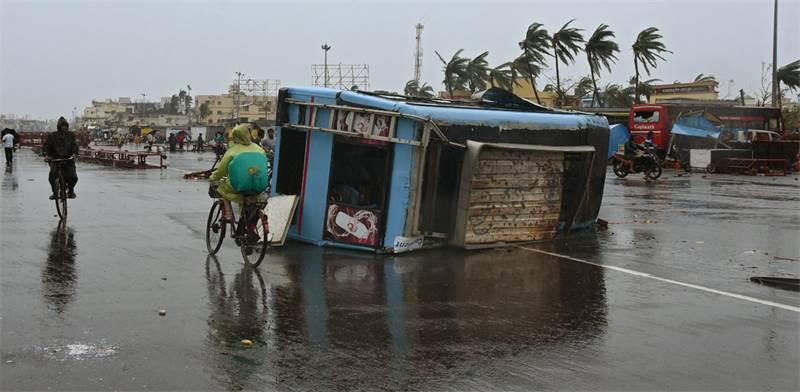 נזקי הציקלון בעיר פורי / צילום: REUTERS/Stringer