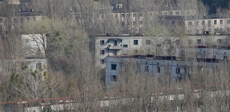 בניינים נטושים בעיירה פריפיאט ליד צ'רנוביל / צילום: Gleb Garanich, רויטרס