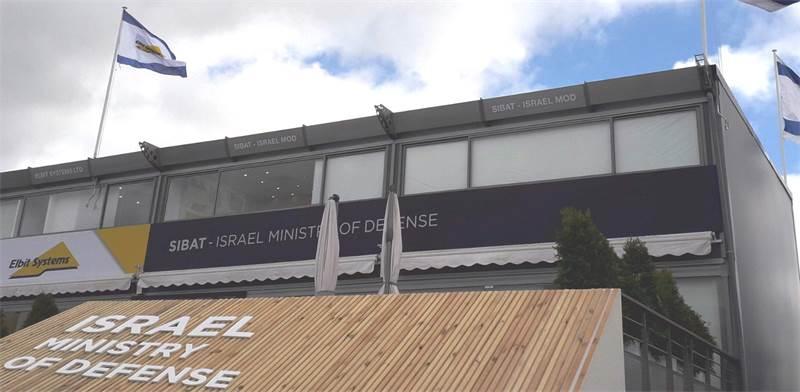 הביתן הישראלי בסלון האווירי בפריז / צילום: משרד הביטחון