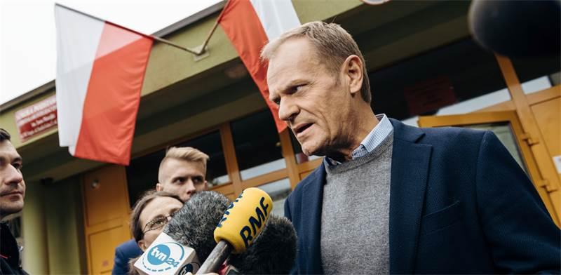 דונלד טאסק, נשיא המועצה האירופית / צילום: Bartosz Banka/Agencja Gazeta, רויטרס