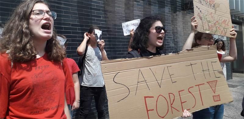 הפגנת נוער למען האמזונס / צילום: תמר אברהם