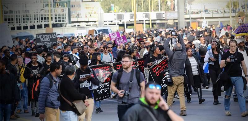 מחאת יוצאי אתיופיה נגד אלימות משטרתית / צילום: שלומי יוסף