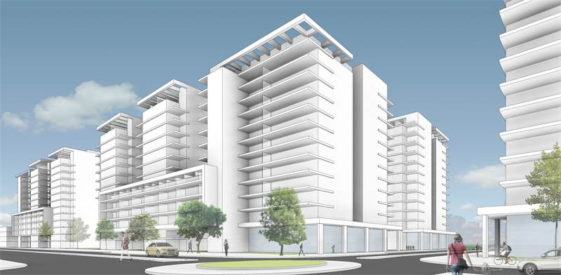 """פרויקט התחדשות עירונית במוהליבר ביהוד / הדמיה: בלנדר אדריכלים, יח""""צ"""