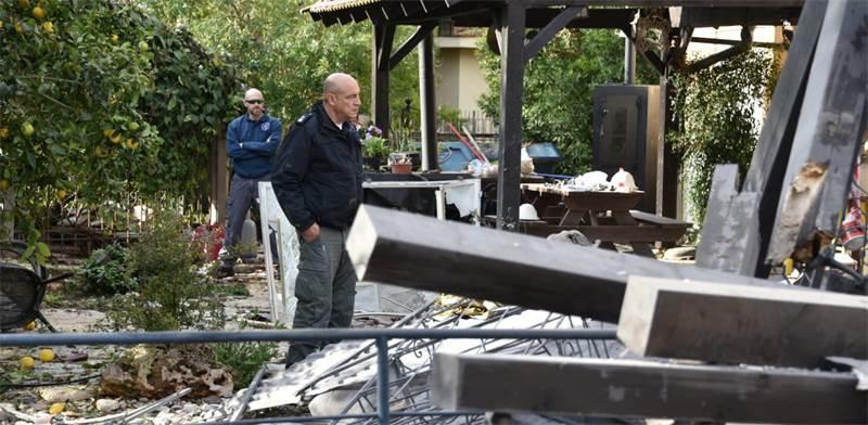 הבית שנהרס מירי הרקטה ששוגרה מעזה / צילום: רועי ברק